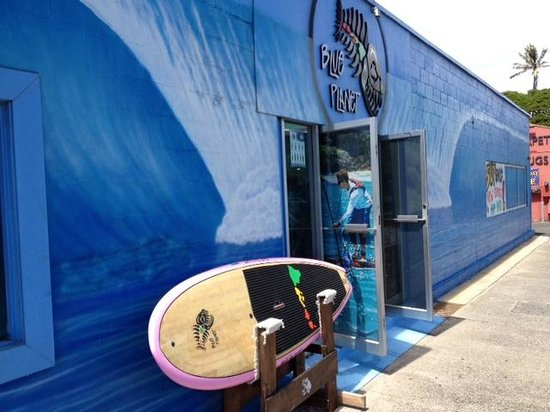 Hawaii's SUP HQ,  Blue Planet Surf Shop at 540 Ward Ave.