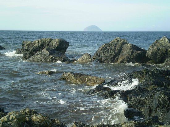 The Portpatrick Hotel: Ailsa Craig from south of Girvan