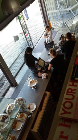 Benediction Cafe: View from the mezzanine dining area