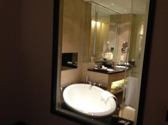 Conrad Dubai: a view of the barhroom from the room