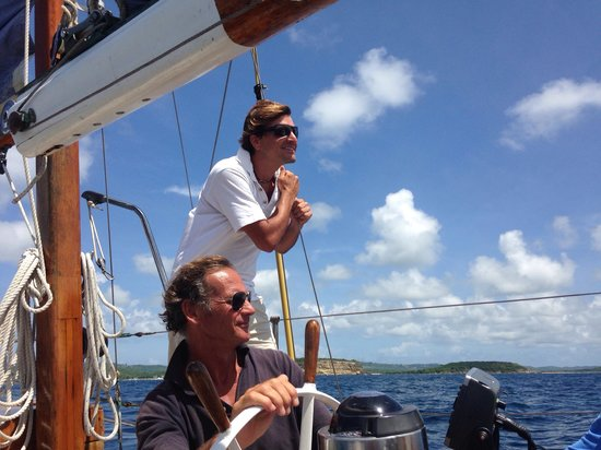 Vieques Classic Charter - Tours: The Captain and his Mate!