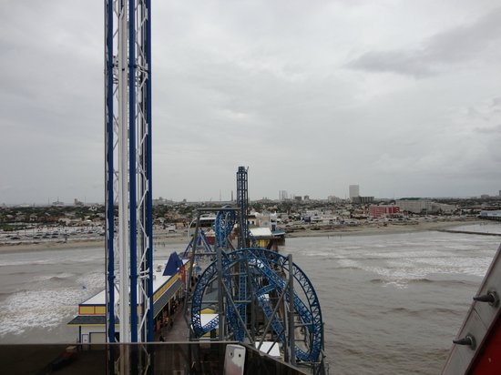 Galveston Island Historic Pleasure Pier: view from the top!