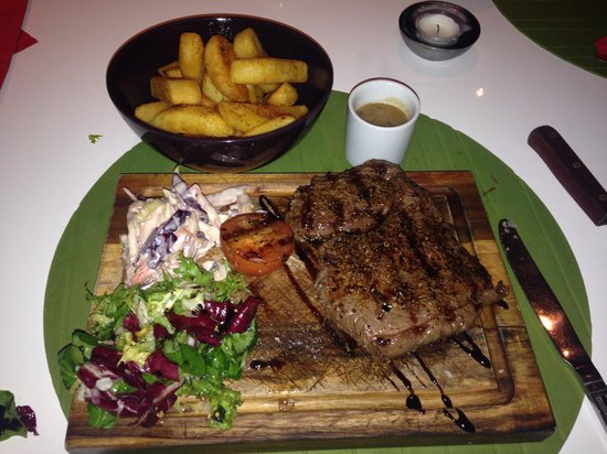 Moshan Island Grill: Jerk Rum Steak
