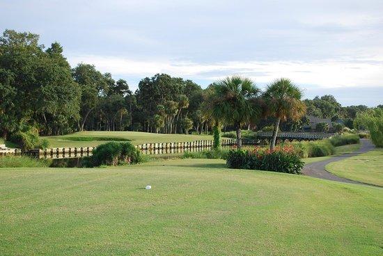 George Fazio Golf Course: 17th. par 3 hole with nasty water hazard.