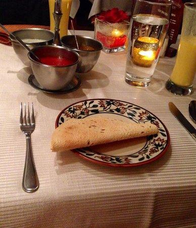 Indien Village: Couvert with delicious sauces