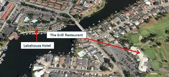 Lakehouse Hotel & Resort: Actual location of The Grill Restaurant