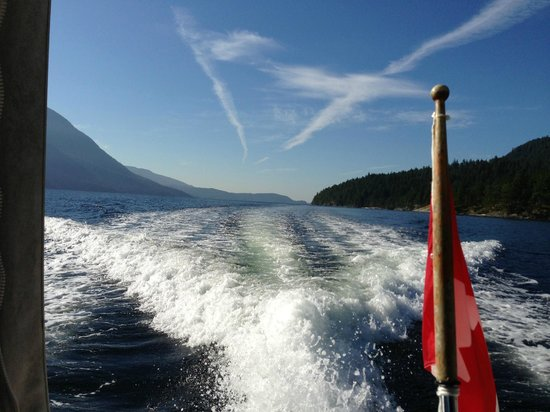 Tzoonie Wilderness Resort & Adventures: The Boat Ride from Sechelt