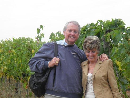 Poggio Covili : Checking out the vinyard
