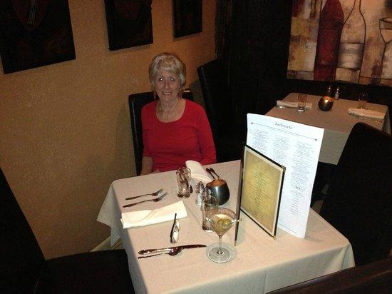 Bailiwicks Fine Restaurant: Table for two