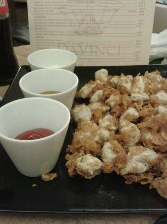 SAPORE Restaurante & Lounge Bar: Crujientes de pollo con tres salsas
