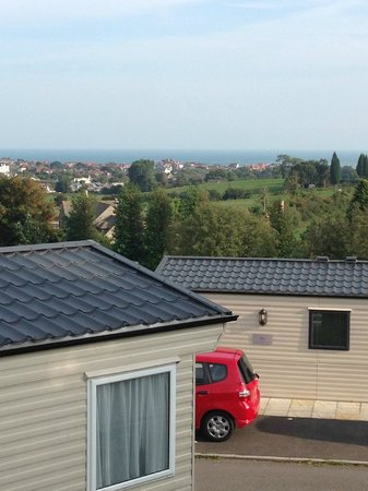 Ulwell Cottage Caravan Park : View of the bay from our Lounge