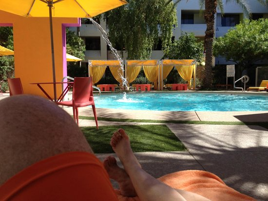 "Saguaro Scottsdale: Relaxing in a cabana by the ""Calma Pool"""