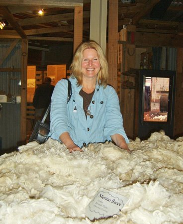 National Wool Museum: Me...I love museums where you are encouraged to touch the exhibits ;-)