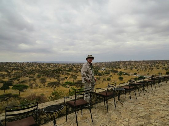 Tarangire Safari Lodge: The patio.