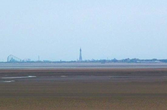 Southport Pier: A view of Blackpool from the end of the pier
