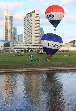 Radisson Blu Hotel Lietuva: Hot Air Balloons Take Off In Front of Radisson Blu Lietuva