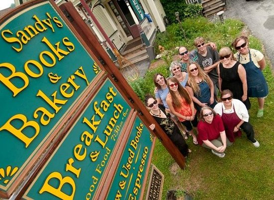 Sandy's Books & Bakery: Our staff in shades