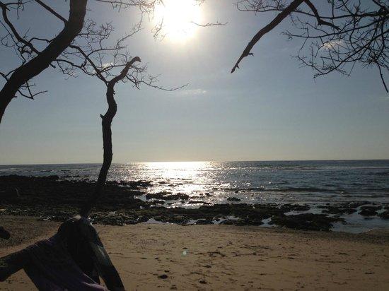 Playa Avellana: Sunset is starting