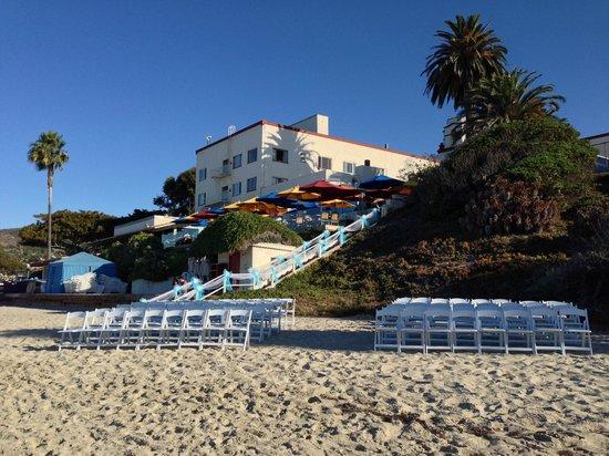 Hotel Laguna : Beach wedding
