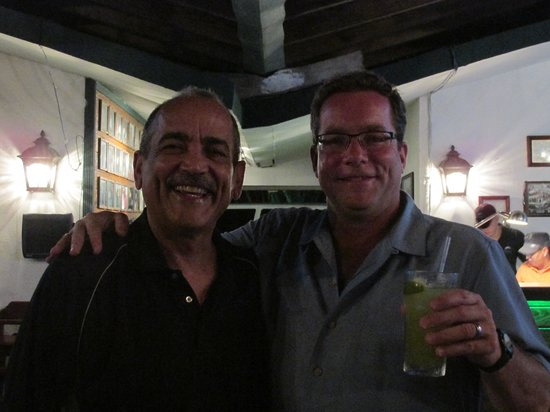Richie's Cafe: Richie the owner and me