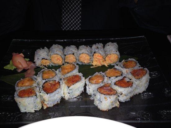 Kyoto Sushi: Spicy tuna, spicy salmon, spicy crab