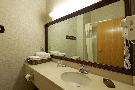 Travelodge and Suites Fargo/Moorhead: Guest Room Bathroom
