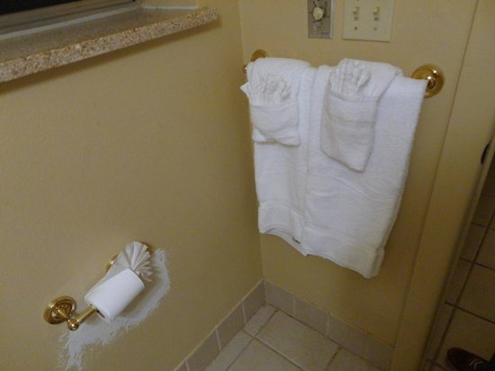 Sand's Inn Park Terrace : Bathroom with the timed heater