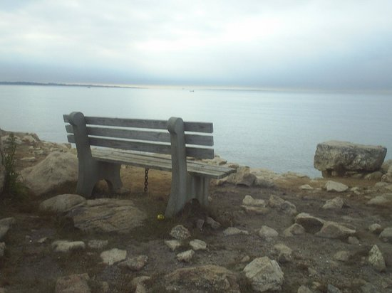 Bluff Point State Park : sitting over the bluff