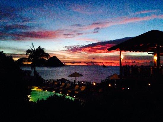 Cap Maison : Pool/Restaurant area at sunset Oct2013
