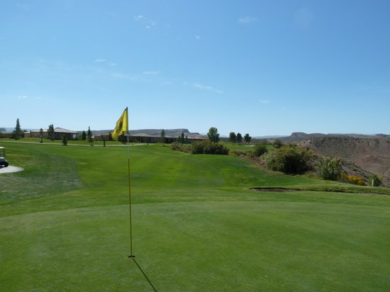 Sunbrook Golf Club: looking back from green