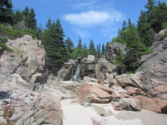 Black Brook Beach: Beach Waterfall