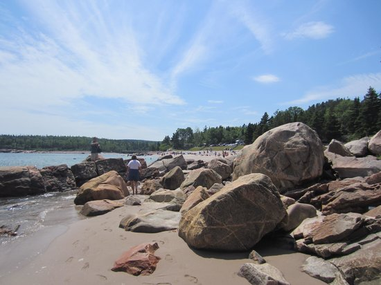 Black Brook Beach: Big Rocks & Sand