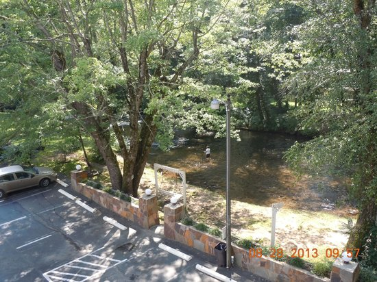 Riverbend Motel & Cabins: View from our room