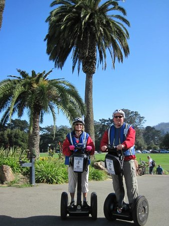 Electric Tour Company Segway Tours: Shirley and Peter outside Conservatory of Flowers