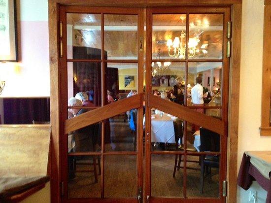 The Restaurant at Burdick's : Door between Chocolate Shop and Restaurant