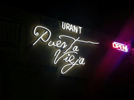 Puerta Vieja  Restaurant: The view at night. ..A hidden Gem