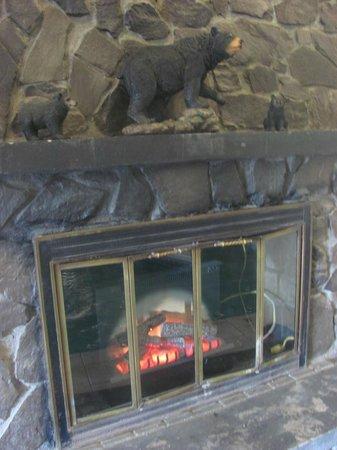 Moosehead Trail Motor Lodge : Fire Place