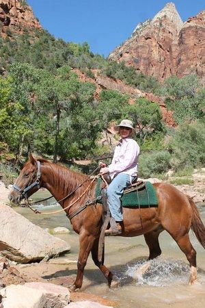 Canyon Trail Rides: Steph enjoying the trail