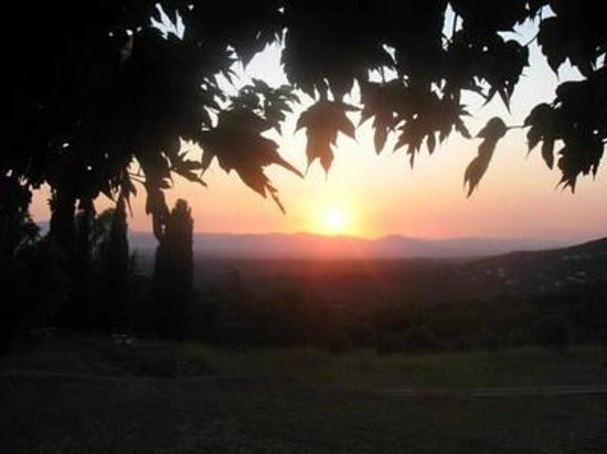 Santa Cristina d'Aro, Spain: Sunset in Romanya de la Selva.