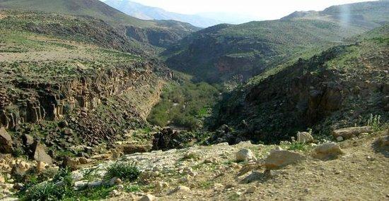Wadi Zarqa Ma'in: Canyon while trekking along the basalt stone of Wadi Zarqa
