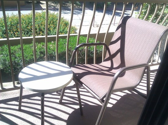 Holiday Inn Express Palm Desert / Rancho Mirage: Shady balcony