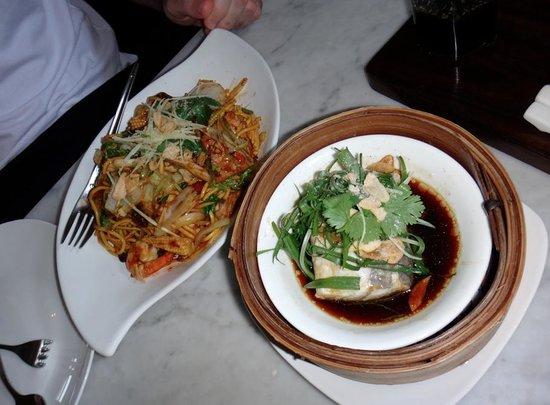 Mamasan: sichuan noodles + steamed barramundi
