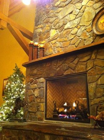K Bar S Lodge: autour de la cheminée