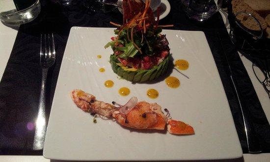 La Ferme de Villeneuve : homard avocat , présentation et goût au top