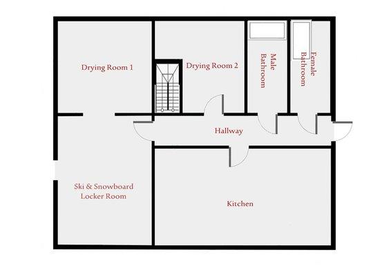 Floor Plan for ground level of Australia House (Back building. 2014 Season)