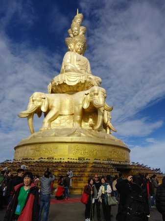 Mt. Emei Natural Ecology Monkey Reserve : The Golden Buddhas of Emeishan