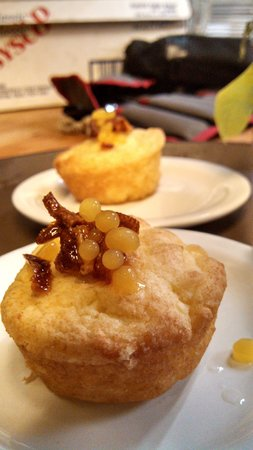 Kingfish Inn : Orange muffin candied Orange Peel and caviared Orange juice