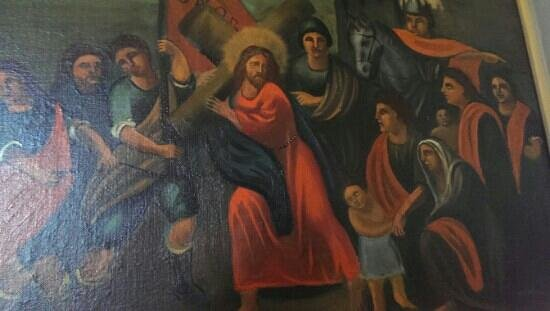Mission San Francisco Solano: historic paintings throughout