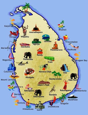 Sri lankan map Picture of Clo Lanka Tours Colombo TripAdvisor
