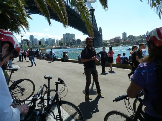 Bonza Bike Tours: Hearing Anecdotes from our guide
